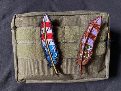 Embroidered Feather