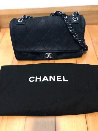Chanel Bag in Black Suede