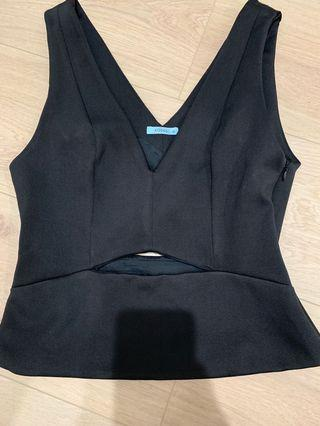 Black tight cut out top