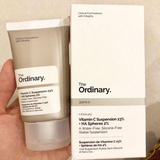 The Ordinary Vitamin C Suspension 23% + HA Spheres 2% 維他命C+玻尿酸