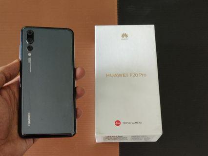 #RayaPhone USED SET HUAWEI P20 PRO FULL SET MIDNIGHT BLACK