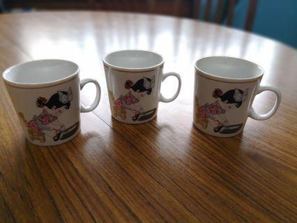 3pcs Vintage cups