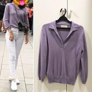 DUMA purple knit top