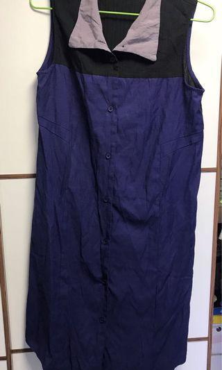 Rococo 黑紫藍連身衫