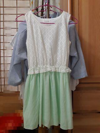 韓國設計 蕾絲洋裝