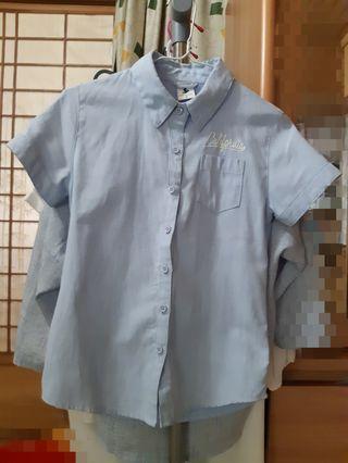caco 牛仔襯衫