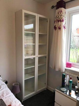 Ikea BILLY / OXBERG Bookcase with glass door,white,