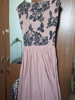 #mauthr Dress panjang warna salem size M