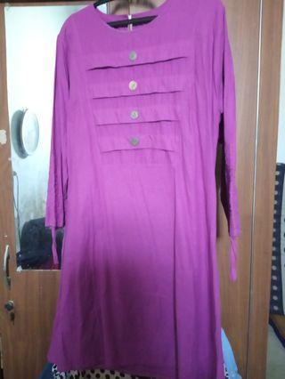 #mauthr atasan ungu All size Fit to L
