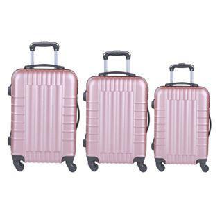 Rose Gold 3 PC Luggage Set