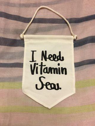 🚚 曼谷購入 I Need Vitamin Sea 吊飾