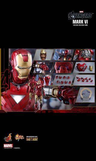 超新 Hottoys MMS378 Ironman Mark VI 6 Diecast MK 6 VI 合金