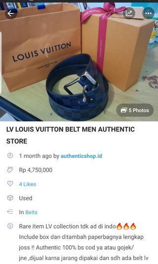 LV BELT LOUIS VUITTON AUTHENTIC TURUN HARGA !