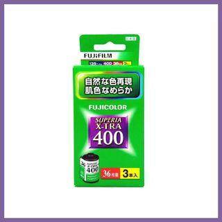 富士Fujifilm - 日版 FUJICOLOR SUPERIA X-TRA 400 ISO 35mm 彩色負片菲林 (36張 x 3筒裝)