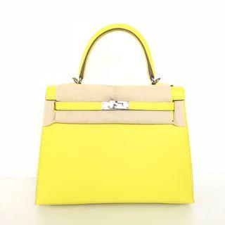 🚚 Hermes - Lime Kelly 25 Sellier in Veau Epsom with PHW