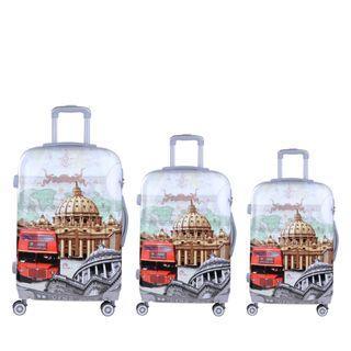 3 PC Luggage set -Europe Tour Theme