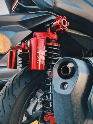 Xmax 300 YSS Rear Shock - Red Series