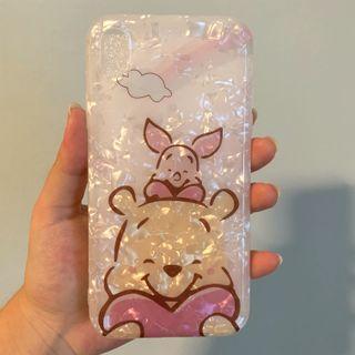 🚚 iphone xr winnie the pooh glitter case