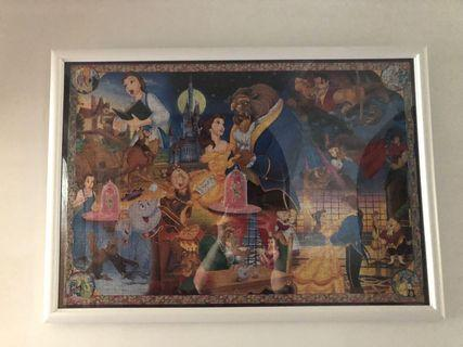 "Disney Characters Story Jigsaw Puzzle ""Eternal Love"" Beauty and the Beast 1000 pieces"