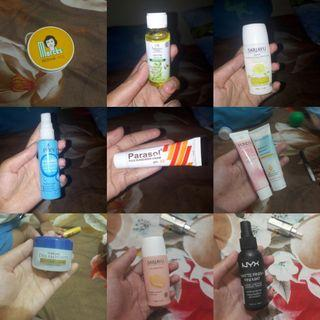 Makeup, pelembab, body mist, dll