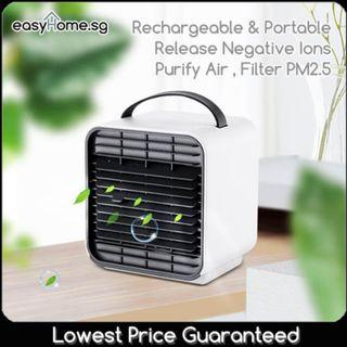 Ion Air Conditioning Fan / Rechargeable !! Portable! Release Negative ions Purify Air , Filter PM2.5