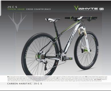 Whyte 29-C S Carbon Fibre Cross Country