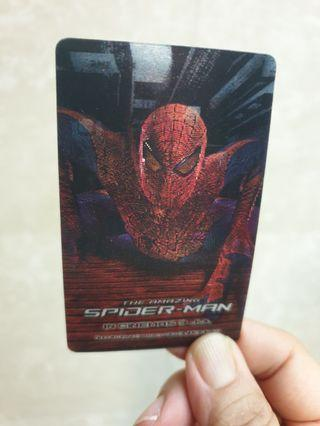 Hologram Spiderman Ezlink card sticker