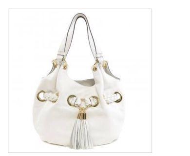 Michael Kors White Tassel Bucket Bag