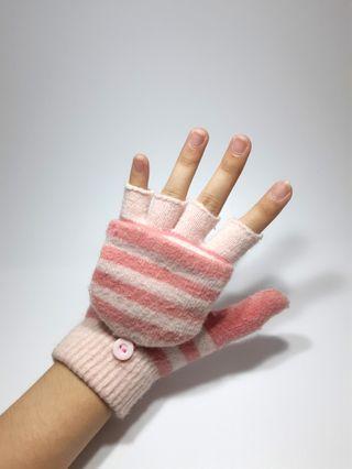 🚚 雙層半指手套