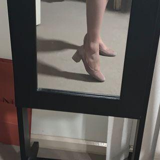 Dusty Rose Block Heels Size 37