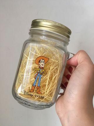 Toy Story 胡迪 有柄 玻璃瓶 Glass Jar Mason Jar