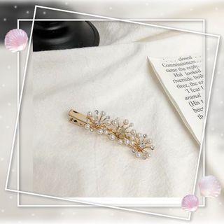 花朵珍珠發夾