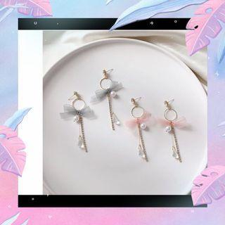 韓國耳環水晶喱士長款耳環
