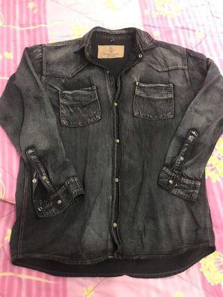 #BAPAU Kemeja jeans black / the zener nine company