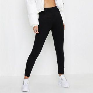 Petite High Waisted Basic Jersey Leggings