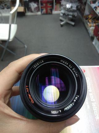 Rollei HFT Tele Tessar 135m f4 (QBM) lens 手動鏡頭