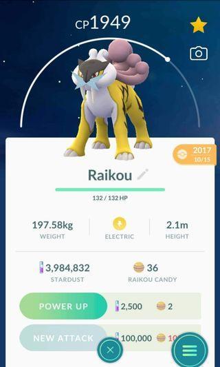 Pokemon Go Raikou for trading
