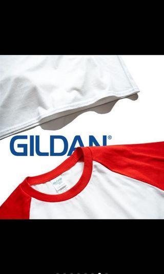 🚚 全新 Gildan 棒球T 純棉 舒服 短袖 上衣 T-shirt
