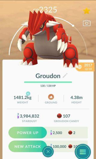 Pokemon Go Groudon for trading
