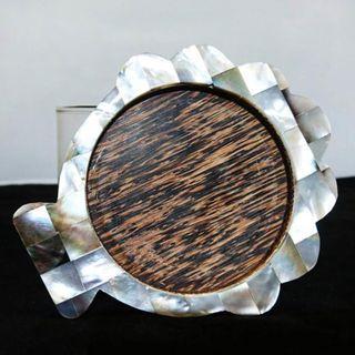 天然貝殼製杯墊 創意杯墊 精緻小物 手工 貝殼 博物館級展品