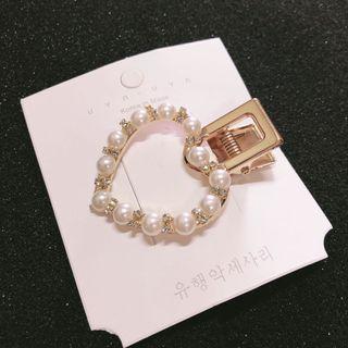 Korea pearl hair clip