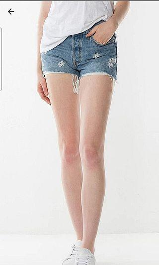 New Levi's Denim 501 Buttonfly Shorts