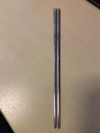 新淨銀色筷子 韓國手信