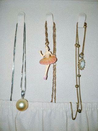 Authentic Les Nereides Paris ballerina necklace pink