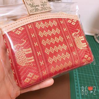 全新❤️泰國純手工刺繡零錢包 金線 紅色