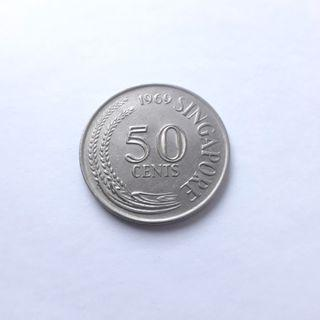 Singapore 50 cent coin
