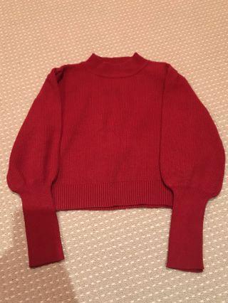 MINKPINK red mock neck knit