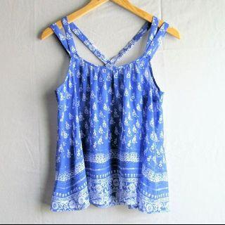 Express Periwrinkle Chiffon Strappy Top