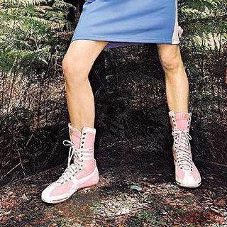 正品 全新 2004年 Puma Schattenboxen 拳擊鞋 粉紅拳擊靴 綁帶運動中高筒靴