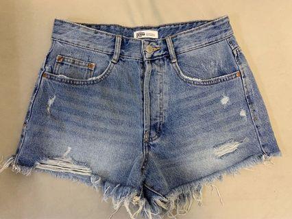 Zara high-waisted mom shorts